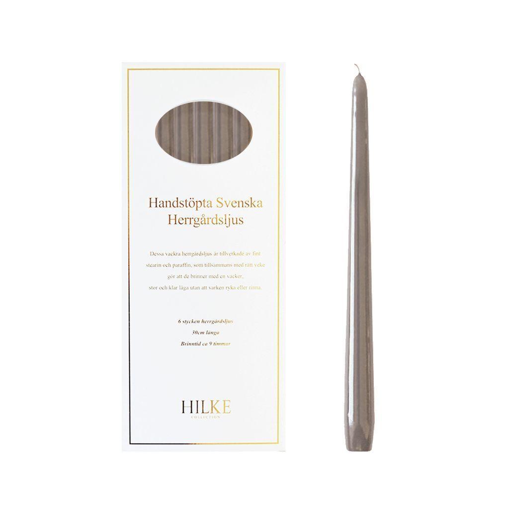 Hilke Collection Herrgårdsljus 6-Pack Lin Glans