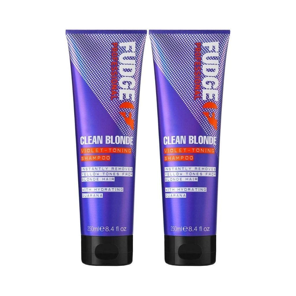 Fudge 2-Pack Fudge Clean Blonde Violet Toning Shampoo 250ml