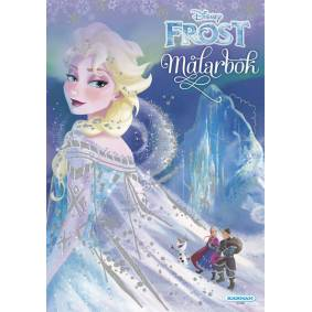 Disney Frozen, Frost Coloring Bok Med Historien, 32 Sider Med Glitter