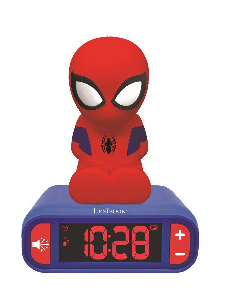 Lexibook Spiderman Night Light Med Vekkerklokke
