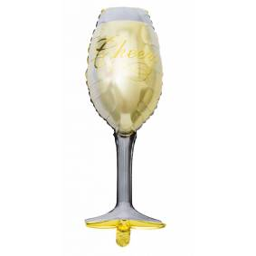 Hisab joker Folie Ballong Vin Glass, 93 Cm