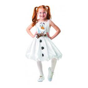 Disney Frost Olof Dress Maskerade Kostyme Kjole (7/8y 122-128 Cm)