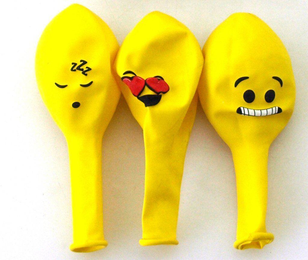 Dynas Ballonger Med Smiley Motiv 15-Pack