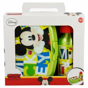 Disney Mikke Mus Matboks Og Drikkeflaske I Aluminium