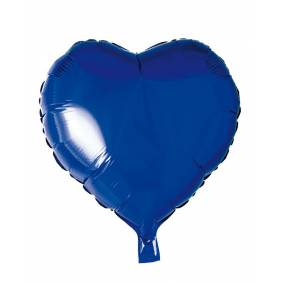 Hisab joker Folie Ballonger, Hjerte, Blå, 46 Cm