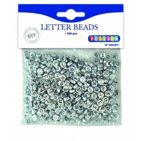 Playbox Letter Perler, Sølv, 500 Stk