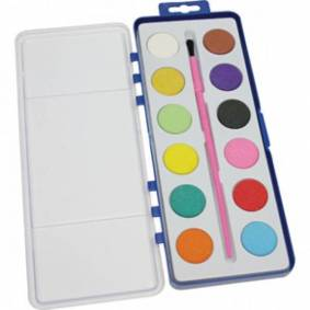 osma Akvarell Og Paintbrush