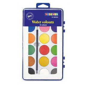 Playbox Akvarell Palette, 18 Farger Med En Børste