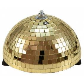 EuroLite Half Mirror Ball 20cm gold