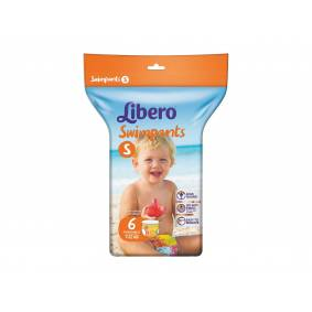 Libero Swimpants badebleier str S 7-12kg 6stk