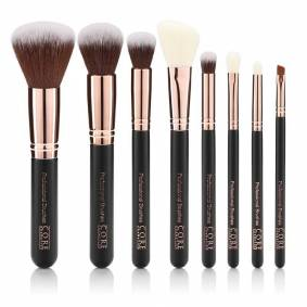 CORE cosmetics Rose Gull 8 Set Professionel Børster - Core Cosmetics
