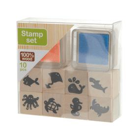 Kreativ Krea Stamp Set Blue/Orange