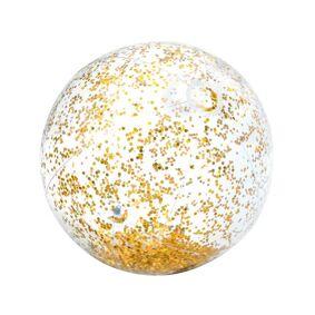 Intex Transparant Gold Glitter Beach Ball