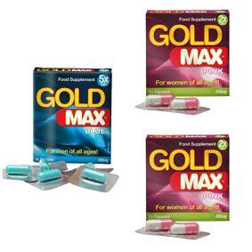 Gold Max Par Utökad Lust Paket 6 - Gold Max - spara 18%