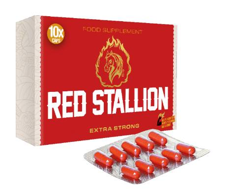Gold Max Red Stallion Extra Strong - 10 kaps-Erektionshjälp