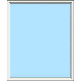 Tørn Fastkarm Vindu 890x1790 Frostet Glass