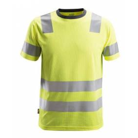 SNICKERS WORKWEAR T-Skjorte 2530 Gul L Kl 2
