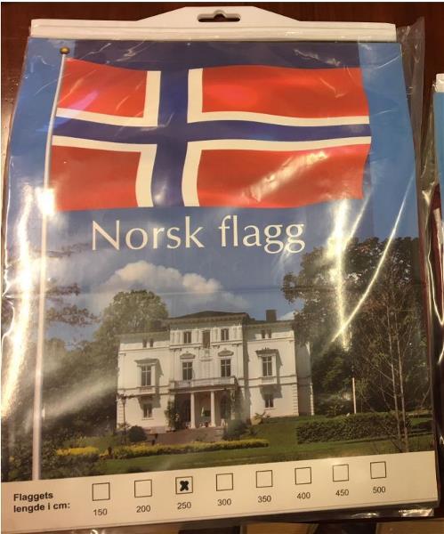 Aanesland Fabrikker Flagg 250cm Norsk