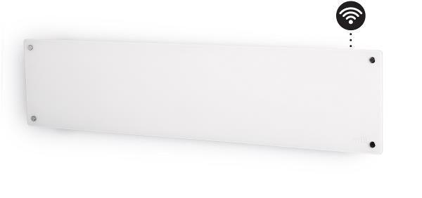 Mill Panelovn Glass List 800w Hvit
