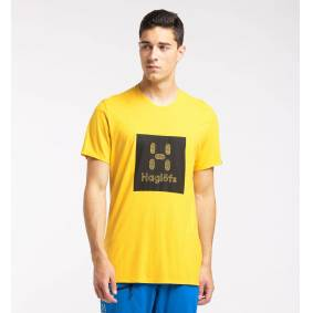 Haglöfs Träd Tee Print Men - Herre - XXL - Pumpkin Yellow