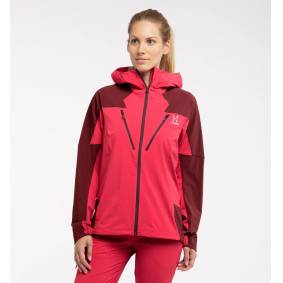 Haglöfs Tegus Jacket Women - Dame - XS - Hibiscus red/maroon red
