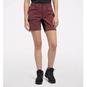 Haglöfs Rugged Flex Shorts Women - Dame - 40 - Maroon Red/True Black