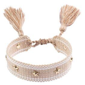 DARK Woven Friendship Bracelet With Star Stud Sand