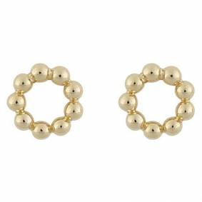 Snö Of Sweden Point Small Round Earring Plain Gold 8mm