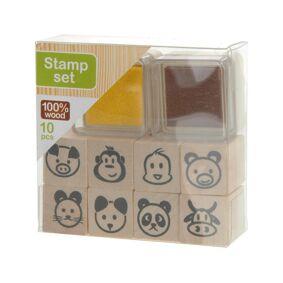 Kreativ Krea Stamp Set Brown/Yellow
