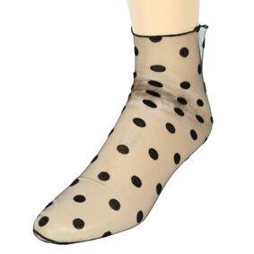 Everneed Cerise Stockings - Mûre - Nylon Ankel Socks Dots