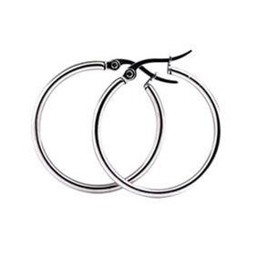Everneed Mille - Silver Hoop Earrings Small