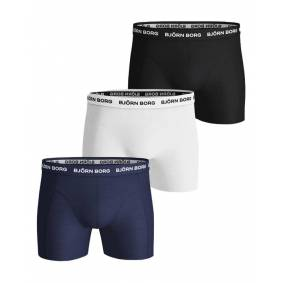 Björn Borg Essential 3-pack Cotton Stretch Shorts - Size S
