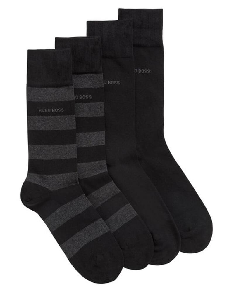 Boss Hugo Boss sokker 2-pakning størrelse 39-42 - Block Stripe
