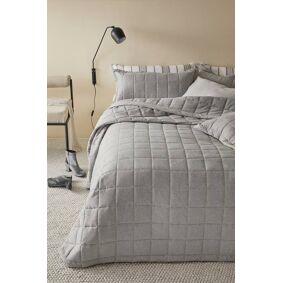 LINDEN sengeteppe - dobbeltseng 260x260 cm Lys grå