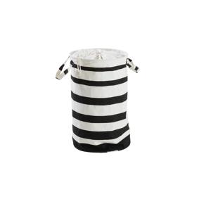 AMORE STRIPE skittentøyskurv - liten Hvit/svart