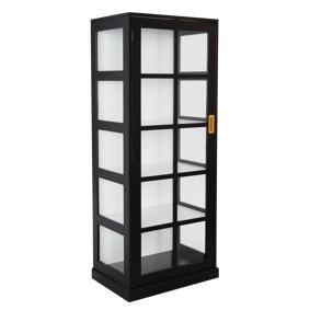 NITTKVARN vitrineskap - høyt Black sandpaint