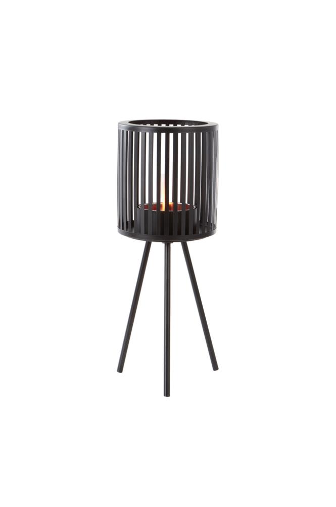 BRIAR fakkelholder Black mdf / metall