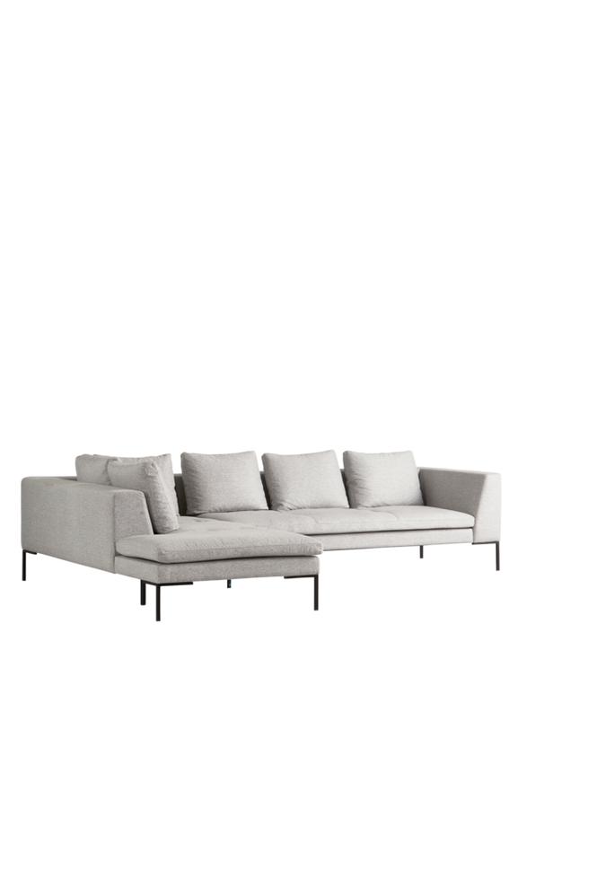 ALBA sofa 3-seter   divan venstre Grå