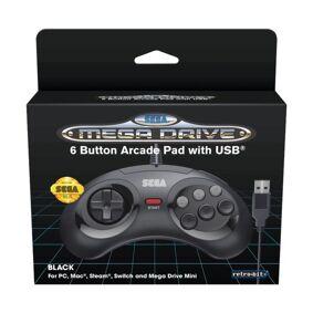 Retro-bit Håndkontroller med USB-tilkobling for Mega Drive