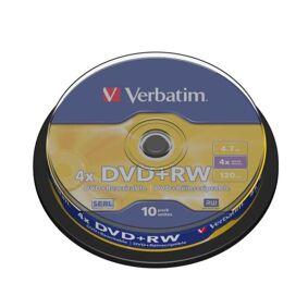 Verbatim DVD+RW på spindel 10-pk.
