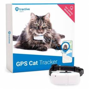 Tractive GPS-sporingsenhet med halsbånd for katt