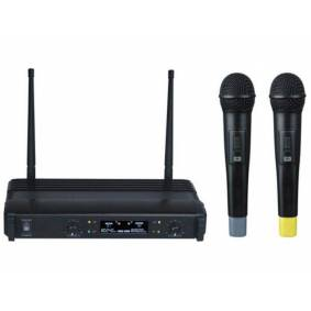 Velleman Trådløst mikrofonsett med 2 mikrofoner