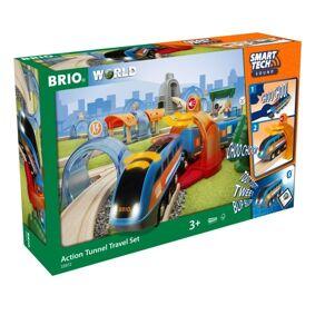 Brio Action Tunnel Travel Set Togsett