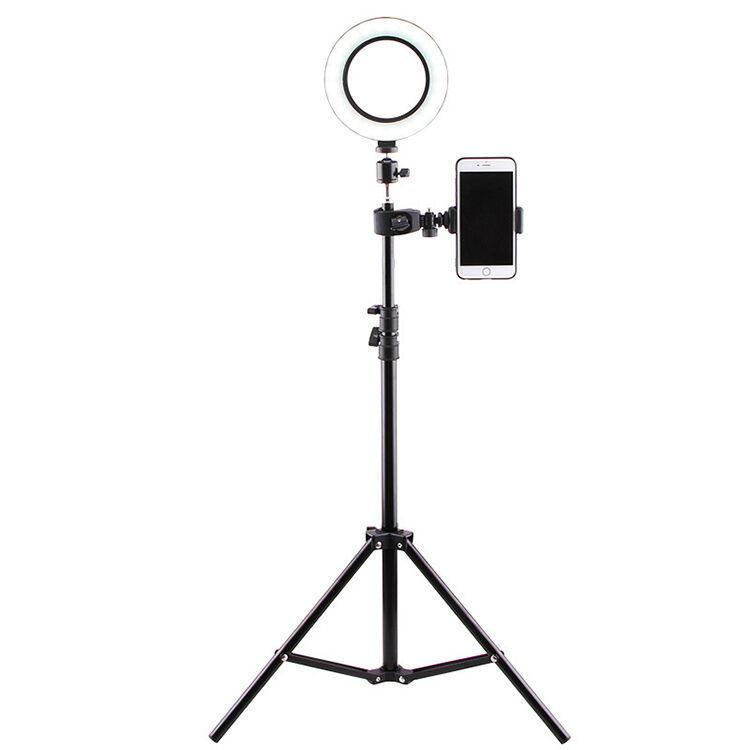 satana Selfie Ring Light / Tripod Stand Med Ring Og Led-Lys