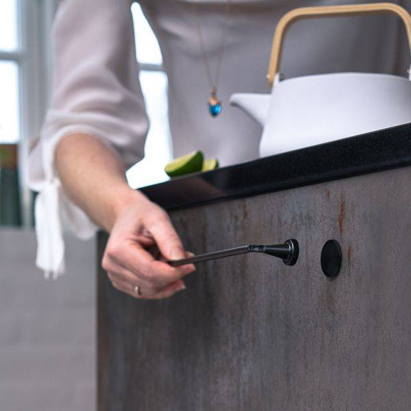 ByMagnet Reenbergs Magnetisk Kjøkkenhåndkleholder Svart Alu - Large