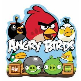 Jysk Partivarer Wallsticker - Angry Birds - 25x24 Cm - 3d Effekt