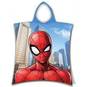 Borg Design Håndkle Poncho Til Barn - Spiderman Jump - 50x115cm – Deilig Og Myk Kvalitet.
