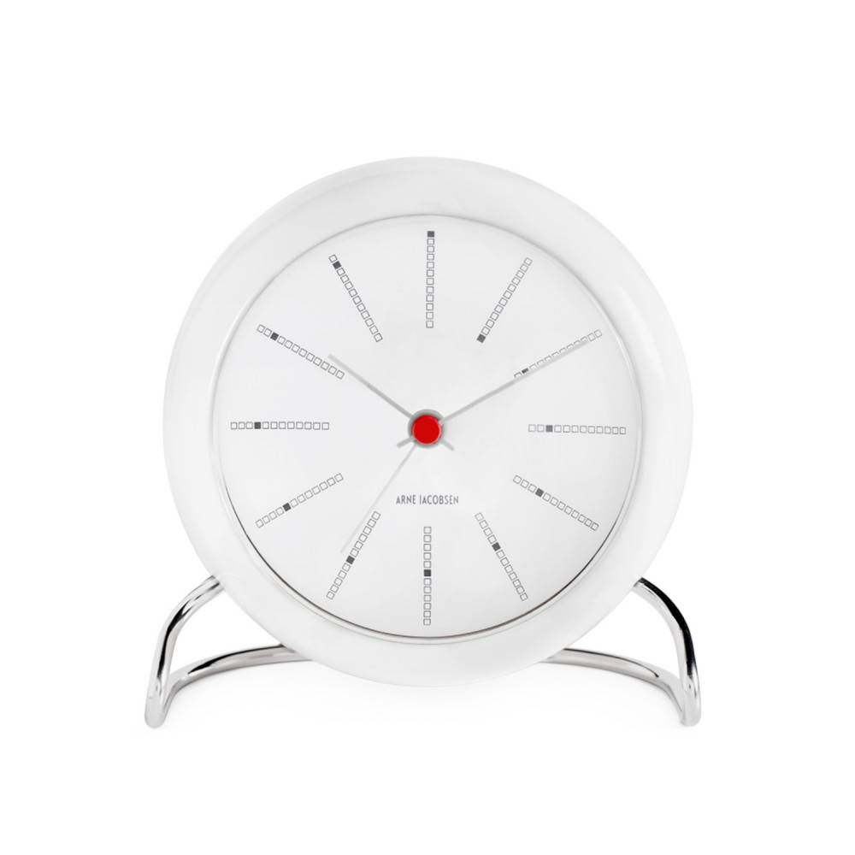 Arne Jacobsen Bordur Bankers Alarm 43675 - 12 Cm - Kvarts Urverk  - Plastik