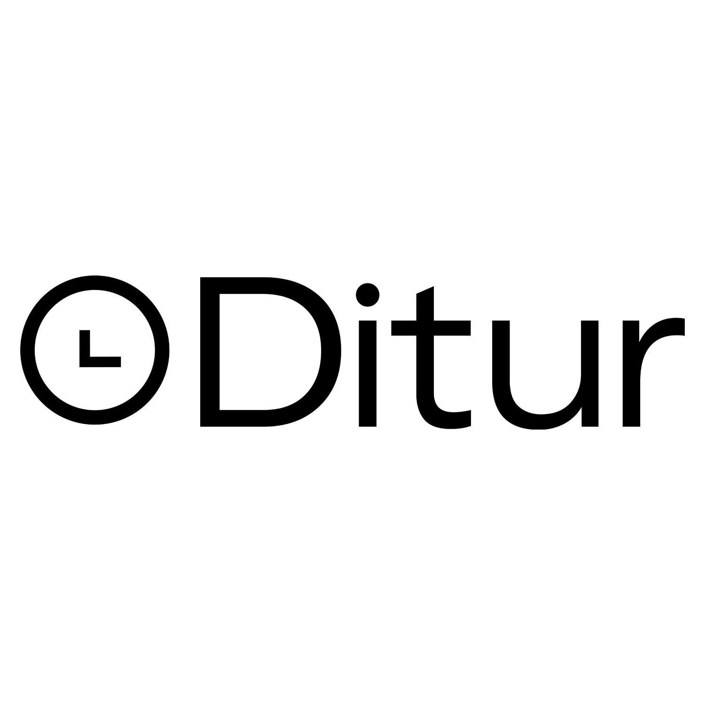 J-Line Clock Wooden Background Iron Brown/white - Kvarts Urverk  - Træ
