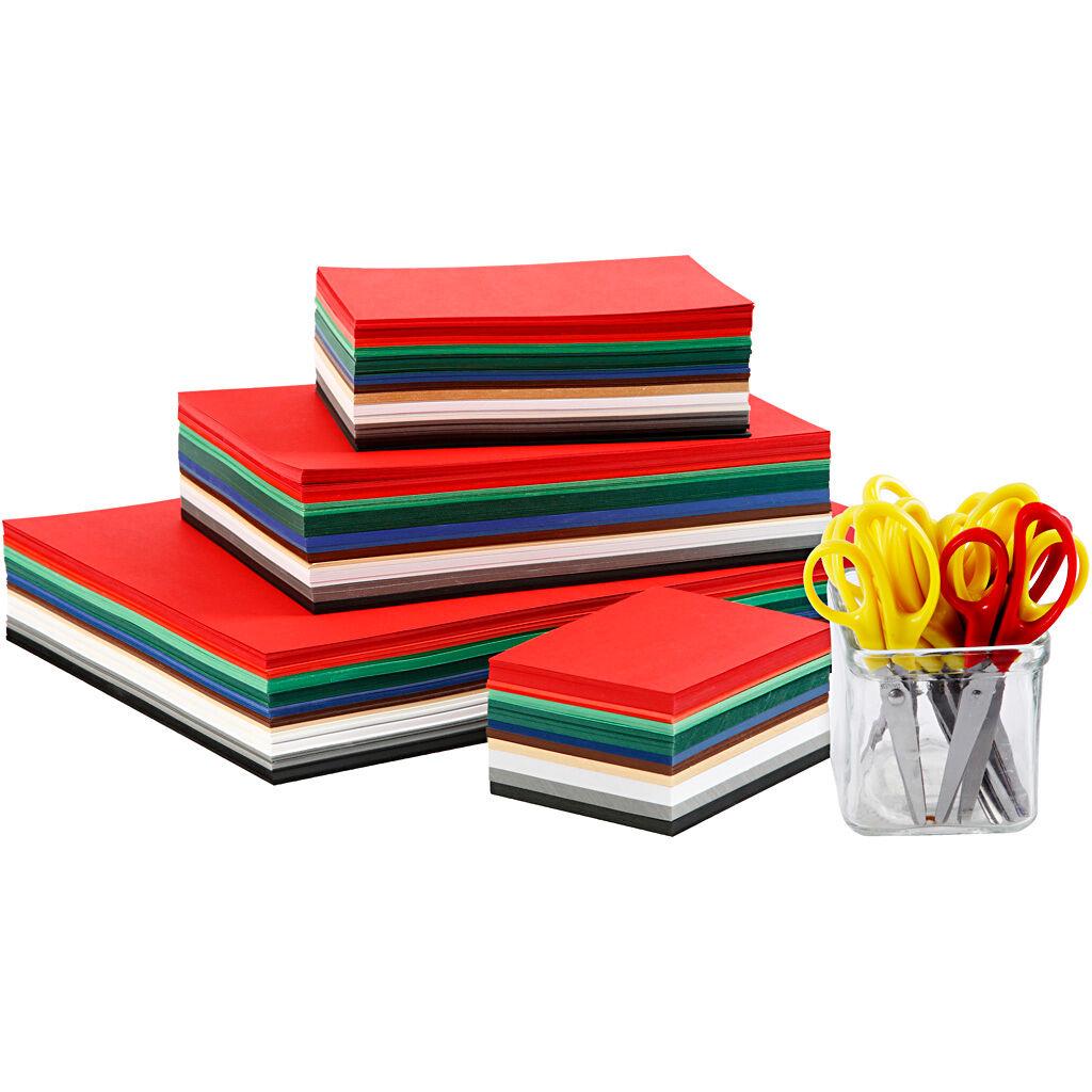 Colortime Julekartong, A3,A4,A5,A6, 180 G, Ass. Farger, 1 Sett